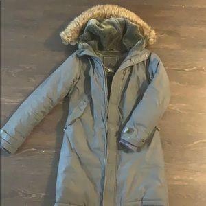 Aritzia TNA grey down winter jacket